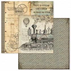 Voyages Fantastiques, lokomotiva 30,5x30,5 scrapbook