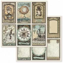 Voyages Fantastiques, kartičky 30,5x30,5 scrapbook