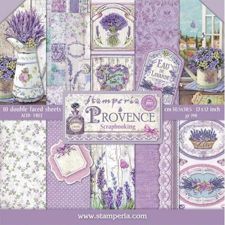 Sada papírů 30,5x30,5 190g Provence
