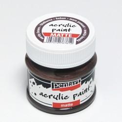 Akrylová barva Pentart 50ml - zemitá hnědá, matná