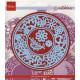 Vyřezávací šablony - Květinový kruh (MD)