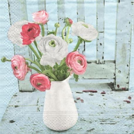 Růže v bílé váze 33x33