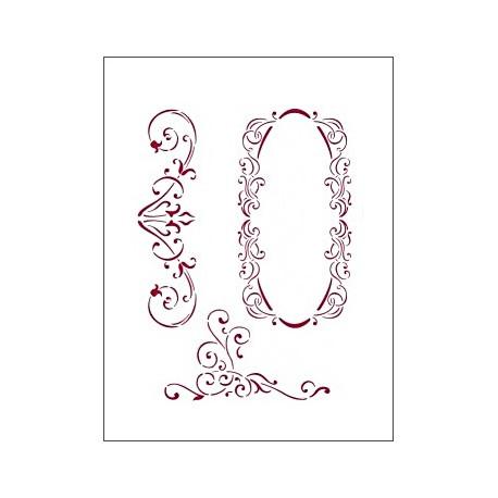 Šablona 15x20 - Jemné ornamenty