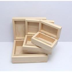 Dřevěné krabice 3v1- obdélníkový tvar malé
