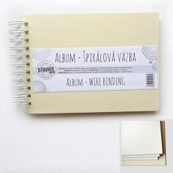 Album se spirálou A5/10 listů, krémová barva (na šířku)