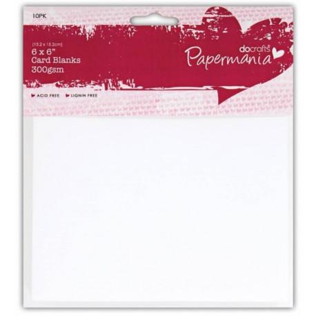 Set 10ks přáníček s obálkami, 15x15, bílá (Papermania)