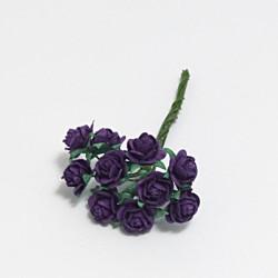 Papírová růžička 1cm, fialová, 10ks