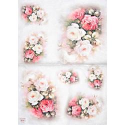 Papír rýžový 35x50 Růže velké
