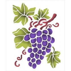 Šablona 15x20 - Hroznové víno