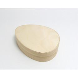 Krabička z dýhy ve tvaru vejce