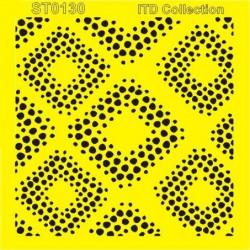 Šablona ITD - Kosočtverce z teček 16x16