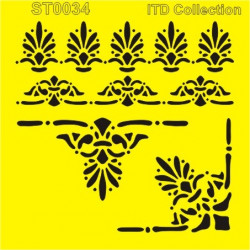 Šablona ITD - Bordury, roh 16x16