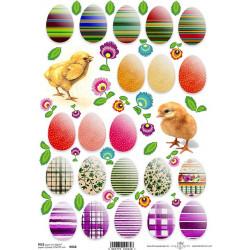 Papír rýžový A4 Vajíčka a kuřátka