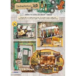 3D blok s výseky - Industrial 3.0, nr.75, vel.A4 (SL)