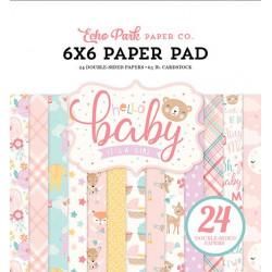 Sada papírů 15x15 Hello Baby Girl (EP)