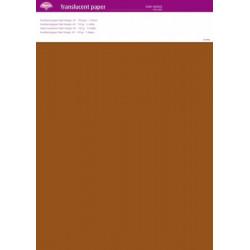 Sada 5 ks - transparentní papír 150g Tmavá oranžová