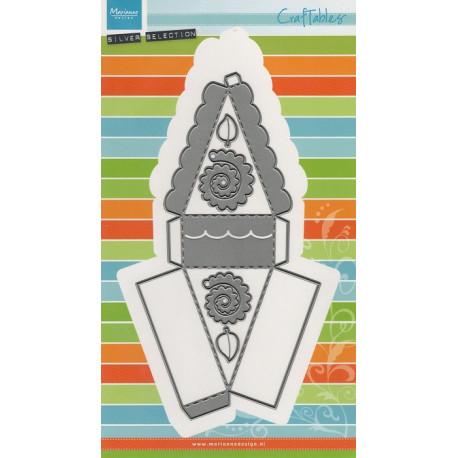 Vyřezávací šablony - Řez dortu, květy (MD)