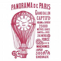 Šablona - Panorama de Paris, balón (A4)
