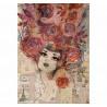 Papír rýžový A4 Žena v růžích