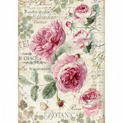 Papír rýžový A4 Plnokvěté růže