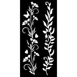 Šablona Mix Media 12x25 - Dva rostlinné motivy (Stamperia)