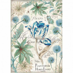 Papír rýžový A4 Modrý tulipán