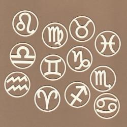 Znaky zvěrokruhu - 12ks chipboards