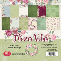Sada papírů 15x15 Flower Vibes (Craft & You)