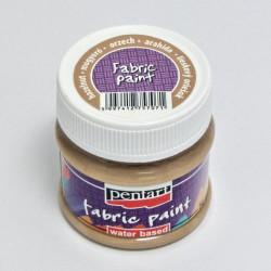 Barva na textil 50ml - ořechově hnědá (Pentart)
