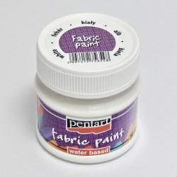 Barva na textil 50ml - bílá (Pentart)
