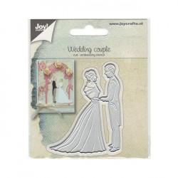 Vyřezávací šablona - Svatební pár(JC)