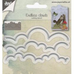 Vyřezávací šablony - Oblaka, obrys s prošitím (JC)