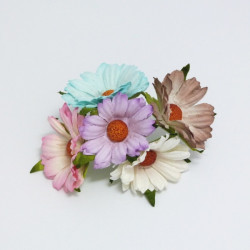 """Papírová chryzantéma 4cm, mix barev """"H"""", 5ks"""