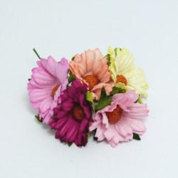 """Papírová chryzantéma 4cm, mix barev """"F"""", 5ks"""