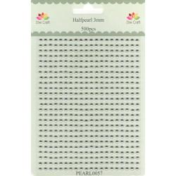 Samolepící perličky 3mm Stříbrné (Dixi Craft)
