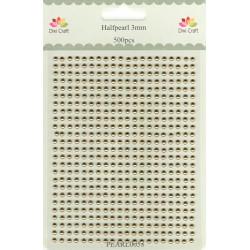 Samolepící perličky 3mm Zlaté (Dixi Craft)