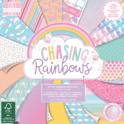 Sada papírů 15x15 Chasing Rainbows