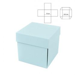 Exploding box nebesky modrý 10cm
