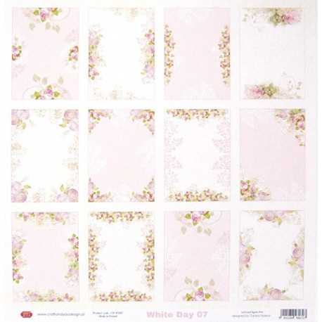 White Day 07 - 30,5x30,5 scrapbook (Craft&You)
