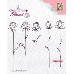 Transp.razítka - pět květin (Nellie´s Choice)