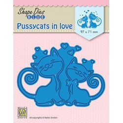 Vyřezávací šablona Zamilované kočky (Nellie´s Choice)