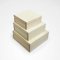 Dřevěné krabice 3v1 - čtvercový tvar (typ DP)