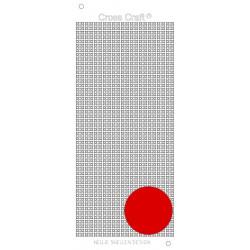 Samolepky křížky - tmavá červená (Nellie´s Choice)
