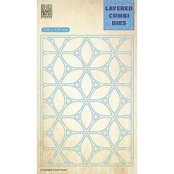 Vyřezávací šablona Layered Combi Dies - květina A