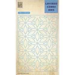 Vyřezávací šablona Layered Combi Dies - květina B