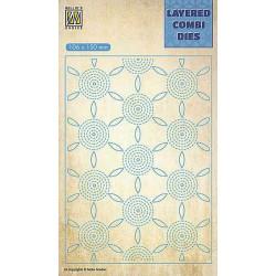 Vyřezávací šablona Layered Combi Dies - květina C