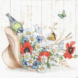 Letní kytice v klobouku 33x33