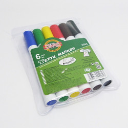 Souprava fixů na textil, 6 barev