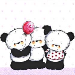 Malé pandy s balónkem 33x33
