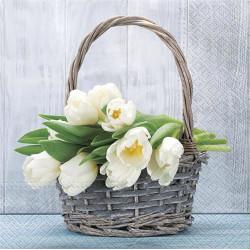 Tulipány v košíku 33x33